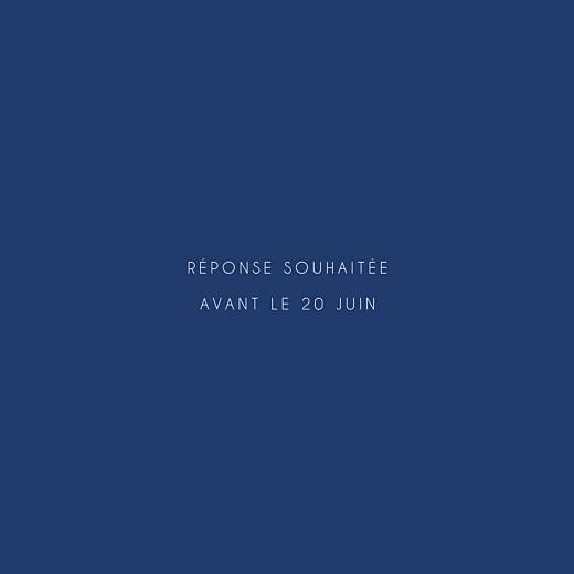 Carton réponse mariage Jardin anglais bleu - Page 2
