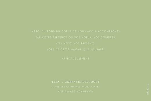 Carte de remerciement mariage Jardin anglais vert - Page 2