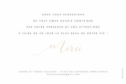 Carte de remerciement mariage Merci blanc - Page 2