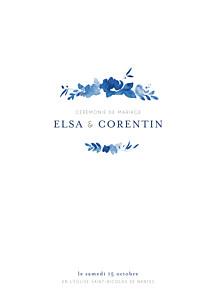 Livret de messe mariage Jardin anglais bleu