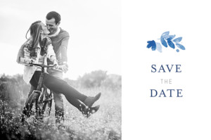 Save the Date Jardin anglais bleu