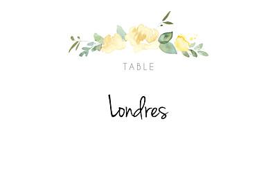 Marque-table mariage Jardin anglais vert finition