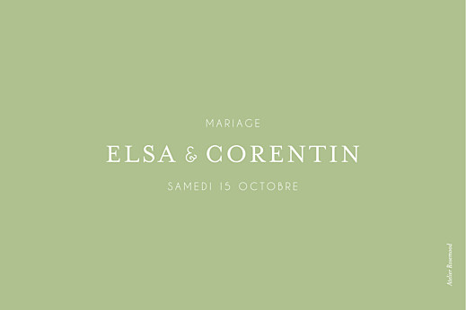 Marque-table mariage Jardin anglais vert - Page 2