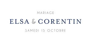 Marque-place mariage Jardin anglais bleu