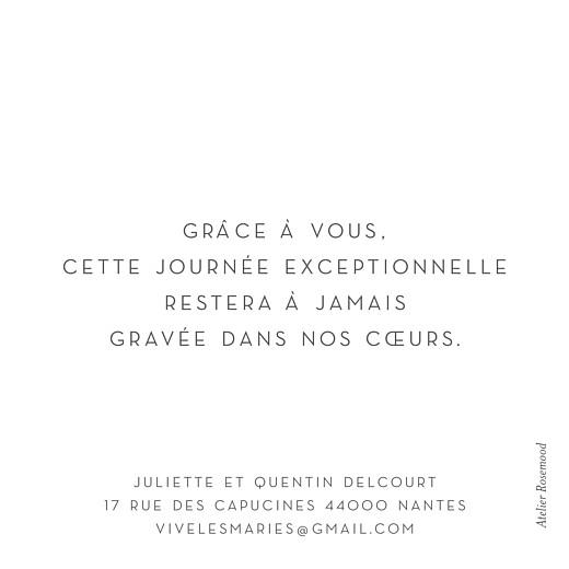 Carte de remerciement mariage Petit élégant cœur blanc - Page 2