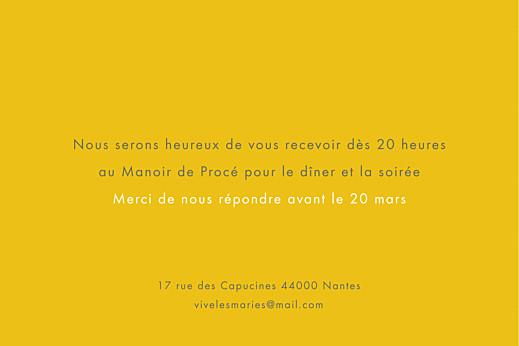 Carton d'invitation mariage Palermo blanc & jaune - Page 2
