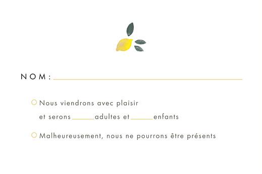 Carton réponse mariage Palermo blanc & jaune - Page 2