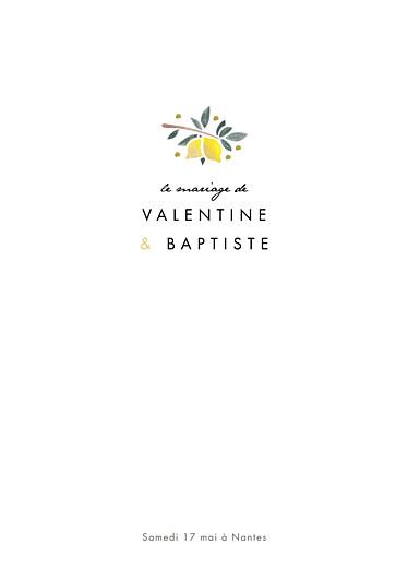 Livret de messe mariage Palermo blanc & jaune