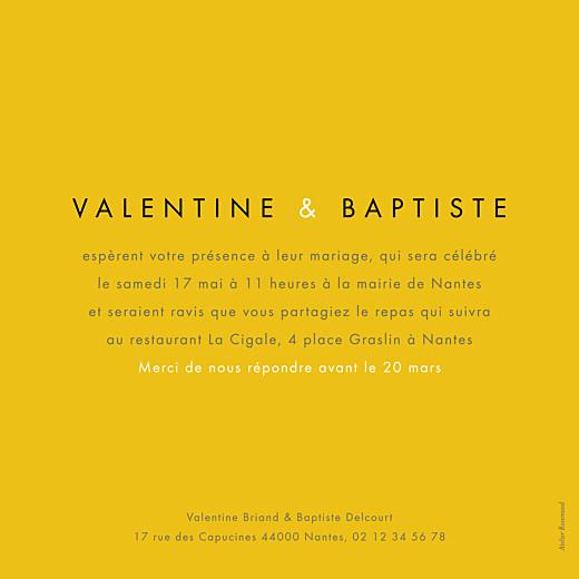 Faire-part de mariage Palermo blanc & jaune - Page 2