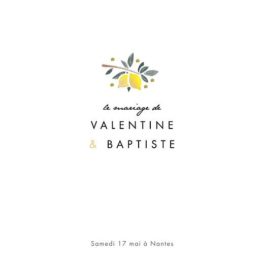 Faire-part de mariage Palermo blanc & jaune