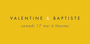 Marque-place mariage Palermo blanc & jaune