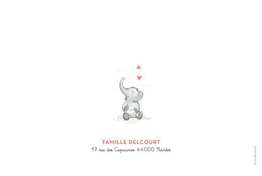 Faire-part de naissance 4 éléphants en famille rose - Page 4