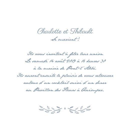 Faire-part de mariage Poème (4 pages) bleu - Page 3