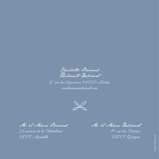 Faire-part de mariage Poème (4 pages) bleu - Page 4