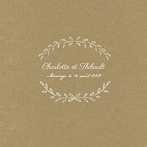 Faire-part de mariage moderne poème (4 pages) kraft