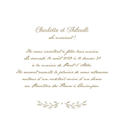 Faire-part de mariage Poème (4 pages) kraft