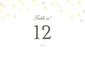 Marque-table mariage classique polka kraft