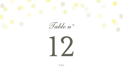 Marque-table mariage Polka kraft finition