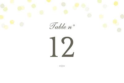 Marque-table mariage Polka kraft finition