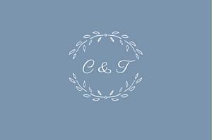 Carton réponse mariage Poème bleu