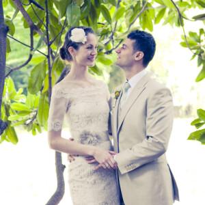 Carte de remerciement mariage Poème photo kraft