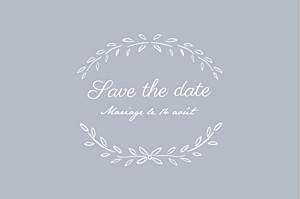 Save the Date Poème gris