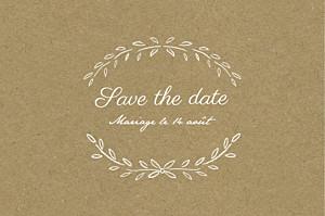 Save the date tomoë  poème kraft