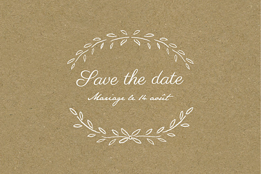 Save the Date Poème kraft