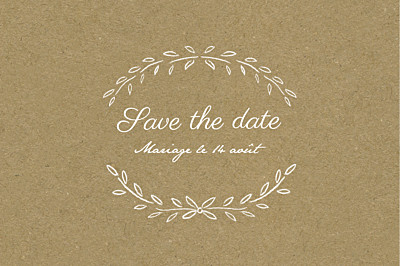 Save the Date Poème kraft finition