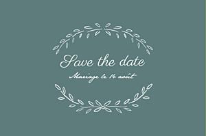 Save the date vert poème vert