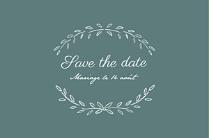 Save the Date Poème vert