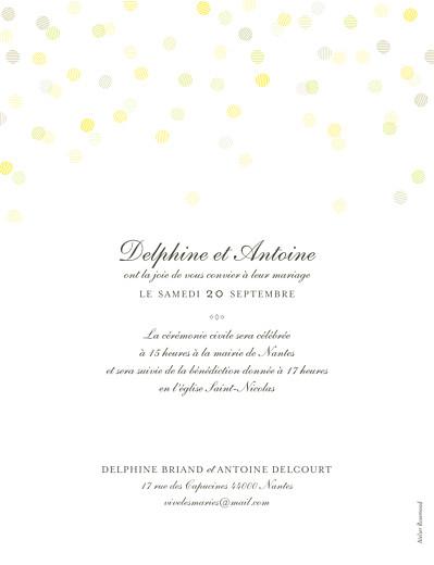 Faire-part de mariage Polka portrait kraft - Page 2