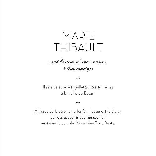 Faire-part de mariage Boudoir dentelle beige blanc - Page 3