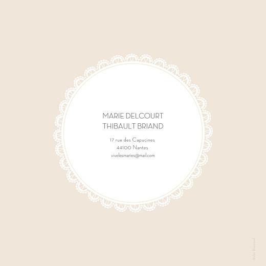 Faire-part de mariage Boudoir dentelle beige blanc - Page 4