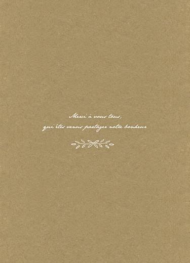 Livret de messe mariage Poème kraft - Page 3