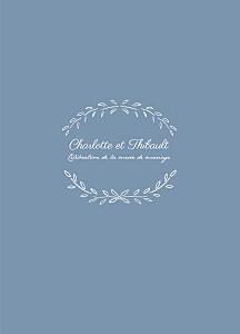 Livret de messe mariage bleu poème bleu