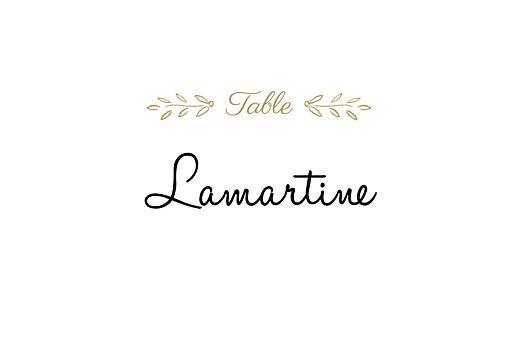 Marque-table mariage Poème kraft