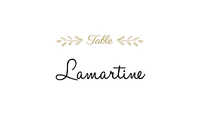 Marque-table mariage Poème kraft finition