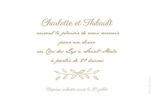 Carton d'invitation mariage Poème kraft - Page 2