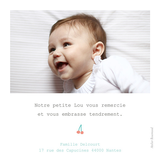 Carte de remerciement Petite cueillette du jardin bleu - Page 2