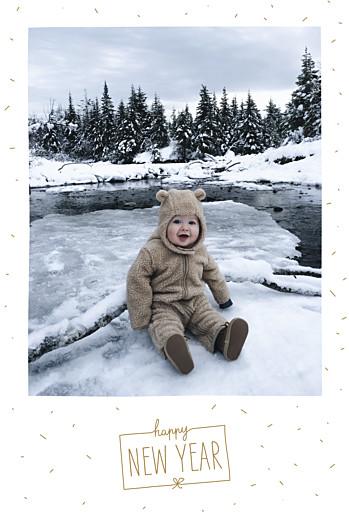 Carte de voeux Paillettes d'hiver blanc