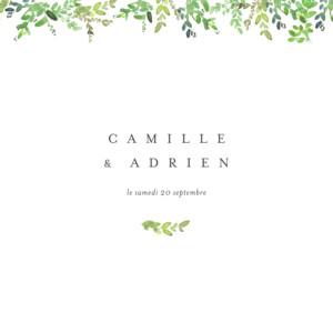 Faire-part de mariage Canopée vert