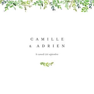 Faire-part de mariage vert canopée vert