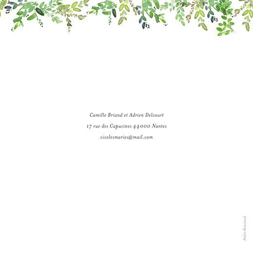 Faire-part de mariage Canopée vert - Page 4