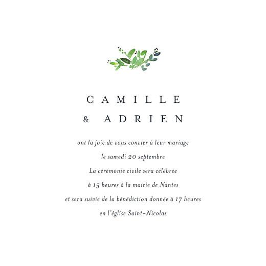Faire-part de mariage Canopée vert - Page 3