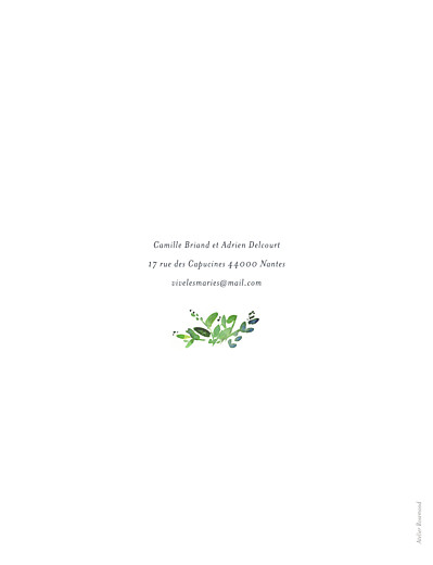 Faire-part de mariage Canopée (portrait) vert - Page 2