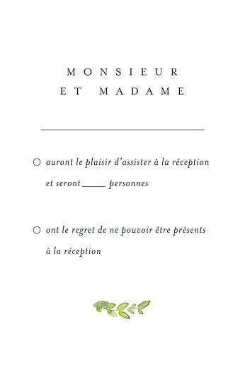 Carton réponse mariage Canopée vert - Page 2
