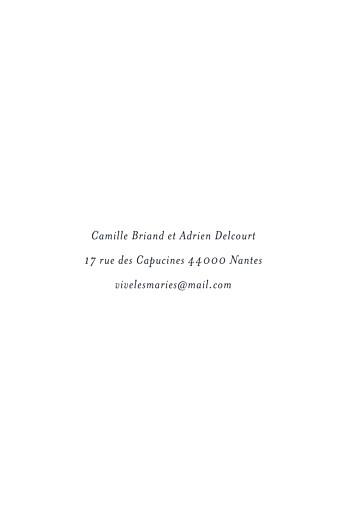 Carton d'invitation mariage Canopée vert - Page 2