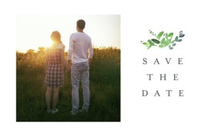 Save the Date Canopée vert