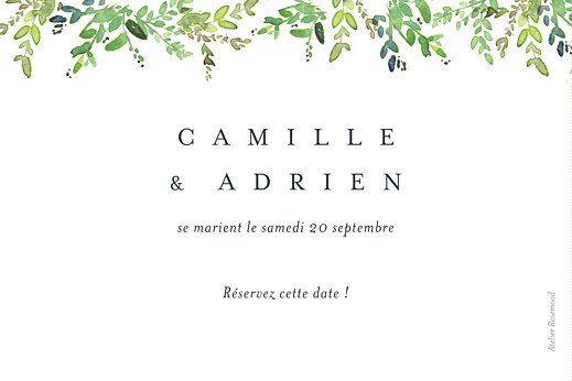 Save the Date Canopée vert - Page 2